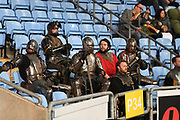 A group of Knights in shining Armour in the stands during the Gallagher Premiership Rugby match between Wasps and Saracens at the Ricoh Arena, Coventry, England on 21 February 2020.