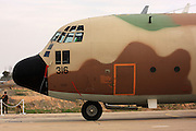 Israeli Air force C-130 Hercules 100 transport plane on the ground