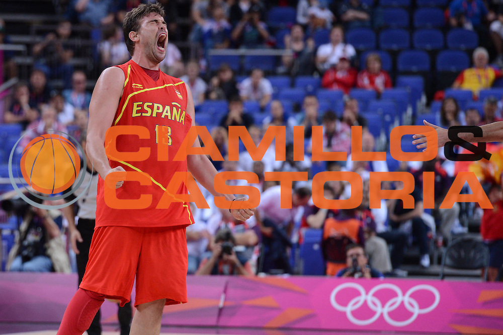 DESCRIZIONE : London Londra Olympic Games Olimpiadi 2012 Men Quarterfinal Francia Spagna France Spain<br /> GIOCATORE : Marc Gasol<br /> CATEGORIA :<br /> SQUADRA : Spain<br /> EVENTO : Olympic Games Olimpiadi 2012<br /> GARA : Francia Spagna France Spain<br /> DATA : 08/08/2012<br /> SPORT : Pallacanestro <br /> AUTORE : Agenzia Ciamillo-Castoria/M.Marchi<br /> Galleria : London Londra Olympic Games Olimpiadi 2012 <br /> Fotonotizia : London Londra Olympic Games Olimpiadi 2012 Men Quarterfinal Francia Spagna France Spain<br /> Predefinita :