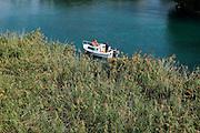 Boot, Schilf, Peschiera del Garda, Venetien, Italien | boat, reed, Peschiera del Garda, Veneto, Italy