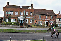 © Licensed to London News Pictures.  10/01/2012.WENDOVER, BUCKINGHAMSHIRE. General view of a pub, just yards from the proposed route of the HS2 high speed train line, which is expected to have a large impact on Wendover during its construction and once complete. Photo credit :  Cliff Hide/LNP