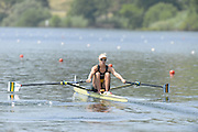 Lucerne. Switzerland.  AUS W1X, Kim CROW, at the start of the Women's Single Sculls Heat, at the FISA WC III. 12:42:09  Friday  12/07/2013  [Mandatory Credit, Peter Spurrier/ Intersport Images] Lake Rotsee,