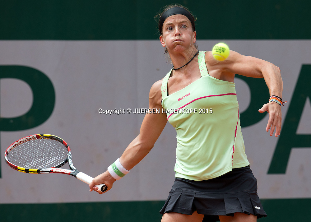 Lourdes Dominguez Lino (ESP)<br /> <br /> Tennis - French Open 2015 - Grand Slam ITF / ATP / WTA -  Roland Garros - Paris -  - France  - 28 May 2015.