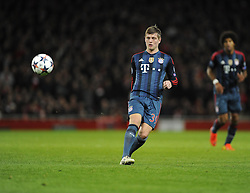 Bayern Munich's Toni Kroos - Photo mandatory by-line: Joe Meredith/JMP - Tel: Mobile: 07966 386802 19/02/2014 - SPORT - FOOTBALL - London - Emirates Stadium - Arsenal v Bayern Munich - Champions League - Last 16 - First Leg
