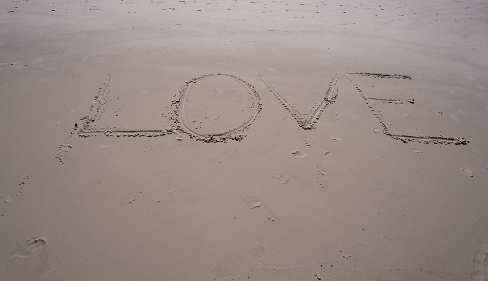 Message written in the sand