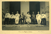Sir Henry Monck-Mason Moore, 19 September 1944 - 4 February 1948.Governor of Sri Lanka..Hildon Sansoni, Aide-de-camp, 2nd from right (in Naval uniform)