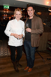 Chef SOPHIE MICHELL and TOM OLDROYD Chef director for Polpo at the Launch of Pont St Restaurant at Belgraves Hotel, 20 Chesham Place,<br /> London SW1 on 10th September 2013.