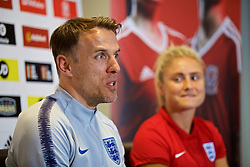 NEWPORT, WALES - Thursday, August 30, 2018: England's manager Phil Neville during a press conference at Rodney Parade ahead of the final FIFA Women's World Cup 2019 Qualifying Round Group 1 match between Wales and England. (Pic by David Rawcliffe/Propaganda)