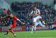 Salomon Rondon shot during the The FA Cup Third Round Replay match between Bristol City and West Bromwich Albion at Ashton Gate, Bristol, England on 19 January 2016. Photo by Daniel Youngs.