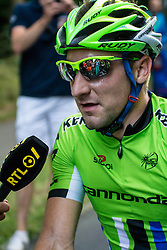 Rhenen, The Netherlands - Dutch Food Valley Classic (UCI 1.1) - 23th August 2013 - The winner Elia VIVIANI interviewed