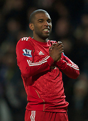 BLACKBURN, ENGLAND - Wednesday, January 5, 2011: Liverpool's Ryan Babel looks dejected as team-mate captain Steven Gerrard MBE misses a penalty against Blackburn Rovers during the Premiership match at Ewood Park. (Pic by: David Rawcliffe/Propaganda)