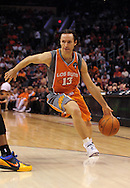 Mar. 26 2010; Phoenix, AZ, USA; Phoenix Suns guard Steve Nash (13) drives the ball in the second half at the US Airways Center.  The Suns defeated the Knicks 132-96.  Mandatory Credit: Jennifer Stewart-US PRESSWIRE.