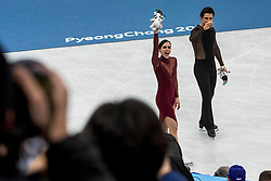 GANGNEUNG, SOUTH KOREA - FEBRUARY 20: Tessa Virtue and Scott Moir of Canada celebrate the gold medal during the venue victory ceremony following the Figure Skating Ice Dance Free Dance program on day eleven of the PyeongChang 2018 Winter Olympic Games at Gangneung Ice Arena on February 20, 2018 in Gangneung, South Korea. Photo by Ronald Hoogendoorn / Sportida