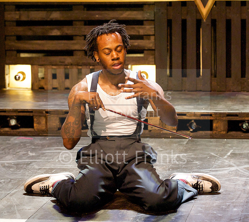 A Harlem Dream <br /> (The Maria)<br /> part of Dance Umbrella 2014 <br /> at the Young Vic Theatre, London, Great Britain <br /> press photocall <br /> 23rd october 2014 <br /> <br /> choreography by Ivan Blackstock <br /> <br /> Birdgang dance company <br /> <br /> <br /> Ivan Blackstock<br /> <br /> <br /> <br /> Photograph by Elliott Franks <br /> Image licensed to Elliott Franks Photography Services
