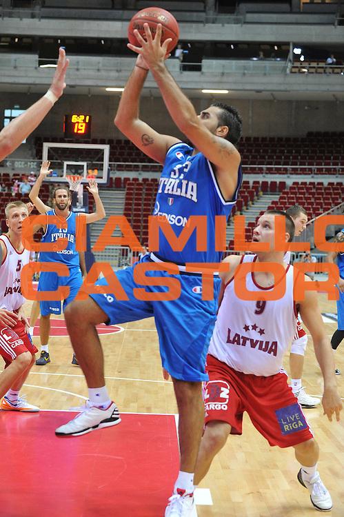 DESCRIZIONE : DANZICA POLONIA TORNEO INTERNAZIONALE SOPOT BASKET CUP Lettonia Italia<br /> GIOCATORE : pietro aradori<br /> CATEGORIA : tiro<br /> SQUADRA : Nazionale Italia Maschile<br /> EVENTO : TORNEO INTERNAZIONALE SOPOT BASKET CUP<br /> GARA : Lettonia Italia<br /> DATA : 03/08/2012<br /> SPORT : Pallacanestro<br /> AUTORE : Agenzia Ciamillo-Castoria/M.Gregolin<br /> Galleria : FIP Nazionali 2012<br /> Fotonotizia :  DANZICA POLONIA TORNEO INTERNAZIONALE SOPOT BASKET CUP Lettonia Italia<br /> Predefinita :