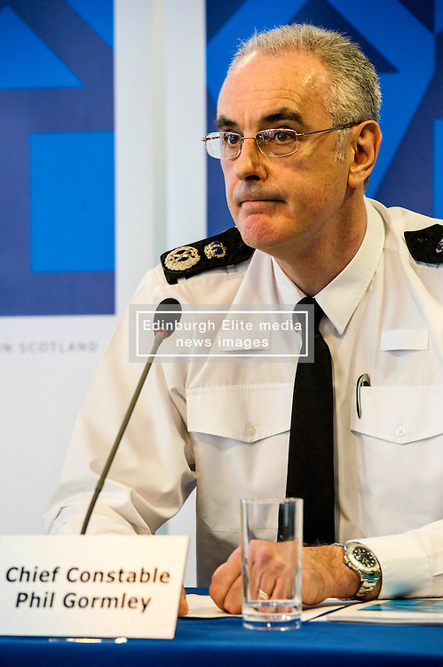 Pictured: Chief Constable Phil Gormley <br /> <br /> At Police Scotland HQ at Fettes Row in Edinburgh today , Chief Constable Phil Gormley and Scottish Police Authority (SPA) Chairman Andrew Flanagan launched a long-term strategy for policing and a public consultation to help shape it.  <br /> <br /> Ger Harley | EEm 27 February 2017