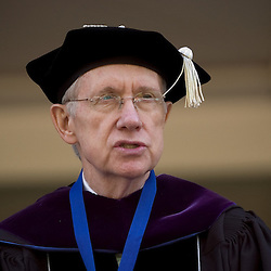 United States Senate Majority Leader Harry Reid (D-Nev.) address the graduates during the University of Nevada, Reno 2007 Spring Commencement, Saturday, May 19 on the Quad. More than 1,300 graduates walked the commencement stage during the University's 117 Baccalaureate ceremony...Photo by David Calvert