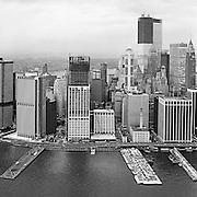 Aerial view of 55 Water Street, New York City. Lower Manhattan. August 3, 1971.