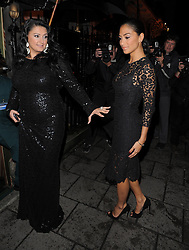 X Factor judge Nicole Scherzinger enjoys a night out at private members club Annabel's in Mayfair, London, UK. 02/10/2012<br />