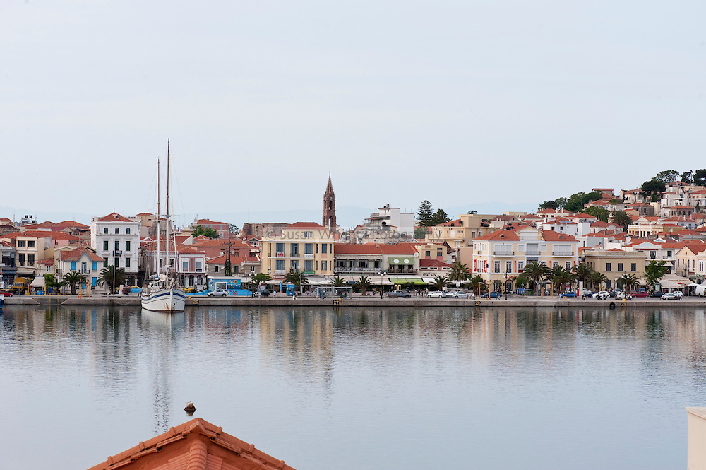 The port of Mytilene, Lesbos, Greece