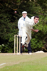 Cricket Whiston Meths V Kilnhirst.Whiston Methodists bowler Cory Goodwin.121040  Whiston Meths Vs Kilnhirst ..30 June 2012.Image © Paul David Drabble