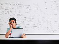 Teenager in Mathematics Class