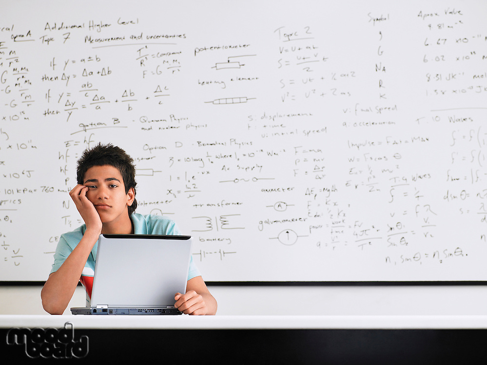 Teenager in Mathematics Class