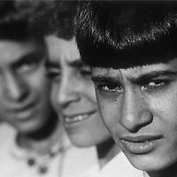 Palestinian boys living in a refugee camp in Lebanon in 1981.