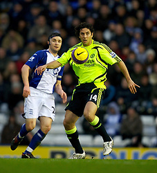 BIRMINGHAM, ENGLAND - Saturday, January 19, 2008: Chelsea's match-winner Claudio Pizzaro in action against Birmingham City during the Premiership match at St Andrews. (Photo by David Rawcliffe/Propaganda)