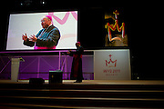 Archbishop Timothy Dolan gives  a catecesis session at Palacio des Desportes (the English Speaking Stadium)