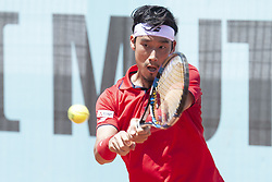 May 8, 2018 - Madrid, Spain - Japanese Yuichi Sugita  during Mutua Madrid Open 2018 at Caja Magica in Madrid, Spain. May 08, 2018. (Credit Image: © Coolmedia/NurPhoto via ZUMA Press)