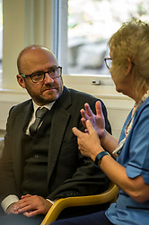 Pictured: Patrick Harvie<br /> Alison Johnstone, health spokeswoman for the Scottish Greens, was joined by party co-conveners Patrick Harvie and Maggie Chapman as she spoke to nurses about pay at the Royal College of Nursing in Edinburgh. The talks came ahead of the party's conference in Edinburgh at the weekend.<br /> <br /> Ger Harley   EEm 20 October 2017