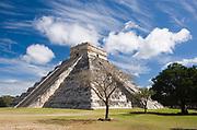 El Castillo or the Pyramid of Kukulcan, Chichen Itza, Mexico