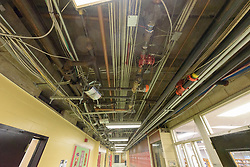 Central High School Bridgeport CT Expansion & Renovate as New. State of CT Project # 015-0174. Hallway Ceiling Systems. One of 84 Photographs of Progress Submission 11, 04 January 2016
