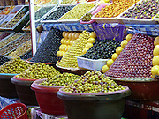 Olives for sale in a market in Morocco
