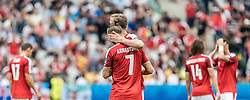 23.06.2016, Stade de France, St. Denis, FRA, UEFA Euro 2016, Island vs Oesterreich, Gruppe F, im Bild Marko Arnautovic (AUT), Marc Janko (AUT) // Marko Arnautovic (AUT) Marc Janko (AUT) during Group F match between Iceland and Austria of the UEFA EURO 2016 France at the Stade de France in St. Denis, France on 2016/06/23. EXPA Pictures © 2016, PhotoCredit: EXPA/ JFK
