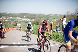 Coryn Rivera (USA) of Team Sunweb reaches the top of the Keutenberg during the Amstel Gold Race - Ladies Edition - a 126.8 km road race, between Maastricht and Valkenburg on April 21, 2019, in Limburg, Netherlands. (Photo by Balint Hamvas/Velofocus.com)