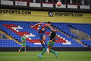 Ben Wynter heads clear the danger during the Final Third Development League match between U21 Crystal Palace and U21 Bristol City at Selhurst Park, London, England on 3 November 2015. Photo by Michael Hulf.
