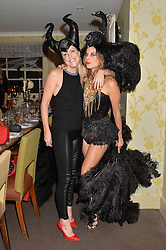 Left to right, OLIVIA McCALL and JULIET ANGUS at the Bumpkin Halloween Dinner hosted by Marissa Hermer held at Bumpkin, 119 Sydney Street, London on 23rd October 2014.
