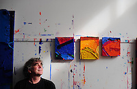 Picture By Jim Wileman  30/09/2008  Artist Anthony Frost pictured in studio in Penzance, Cornwall.