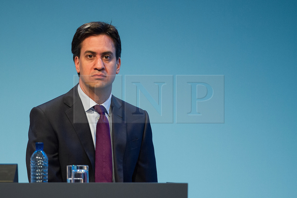 © Licensed to London News Pictures . 22/09/2013 . Brighton , UK . The leader of the Labour Party , ED MILIBAND , sits on stage during the Scottish Report session this afternoon (Sunday 22nd September 2013) . Day 1 of the Labour Party 's annual conference in Brighton . Photo credit : Joel Goodman/LNP