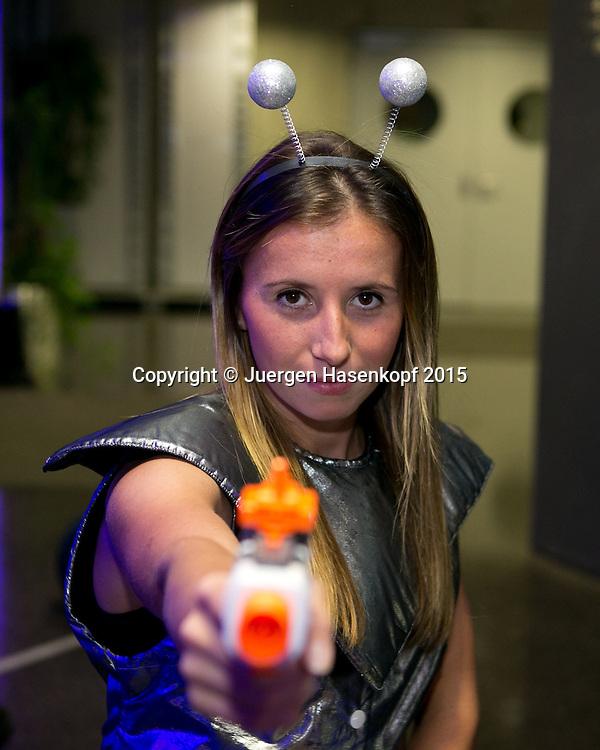 Annika Beck (GER) auf der Players Party,<br /> <br /> Tennis - Ladies Linz 2015 - WTA -   - Linz -  - Oesterreich - 12 October 2015. <br /> &copy; Juergen Hasenkopf/Molter