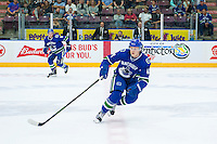 PENTICTON, CANADA - SEPTEMBER 16: Olli Juolevi #48 of Vancouver Canucks skates against the Edmonton Oilers on September 16, 2016 at the South Okanagan Event Centre in Penticton, British Columbia, Canada.  (Photo by Marissa Baecker/Shoot the Breeze)  *** Local Caption *** Olli Juolevi;
