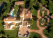 Aerial of large Florida estate located in Southwest Ranches, Fl