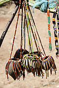 Hadza handicraft for sale at the hadza tribe's village, Lake Eyasi, Tanzania