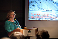 Beth Leonard speaks at the Hoofer Sailing Seminars about her sailing voyage to South Georgia Island.