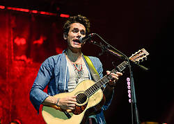 © Licensed to London News Pictures. 09/06/2014. London, UK.   John Mayer performing live at The O2 Arena to promote his sixth album 'Paradise Valley'.  John Mayer is an American recording artist and producer.  In 2003 he won a Grammy Award for Best Male Pop Vocal Performance for 'Your Body is a Wonderland', in 2007 he won a Grammy Award for Best Male Pop Vocal Performance for 'Waiting on the World to Change'.   Photo credit : Richard Isaac/LNP