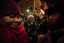 People waited for hours in frigid temperatures to witness  the inauguration of Barack Obama as the 44th President of the United States of America In Washington DC January 20, 2009. Before a crowd of more than a million, Obama became the first African-American to be elected to the office of President in the history of the United States.