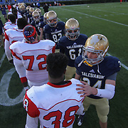 Smyrna players and Salesianum player congratulate one another after Smyrna  defeated the top seeded Salesianum 32-26 in the DIAA Division I championship game Saturday, Dec. 05, 2015 at Delaware Stadium in Newark.