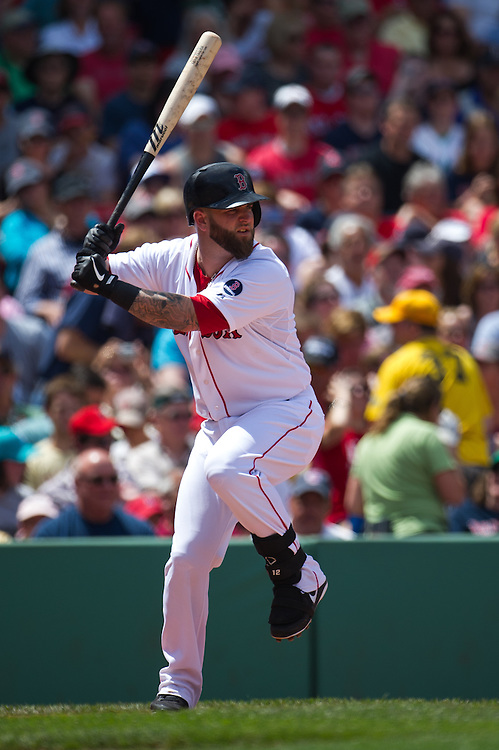 BOSTON, MA - JUNE 09: Mike Napoli #12 of the Boston Red Sox bats during the game against the Los Angeles Angels at Fenway Park in Boston, Massachusetts on June 9, 2013. (Photo by Rob Tringali) *** Local Caption *** Mike Napoli